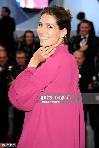 French journalist Laury Thilleman attends the screening of 3 Faces during the 71st annual Cannes Film Festival at Palais des Festivals on May 12 2018...