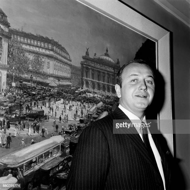 French journalist Michel CroceSpinelli of Sagipress poses after winning the 1965 Albert Londres prize for his reports on Congo on May 18 1965 at the...