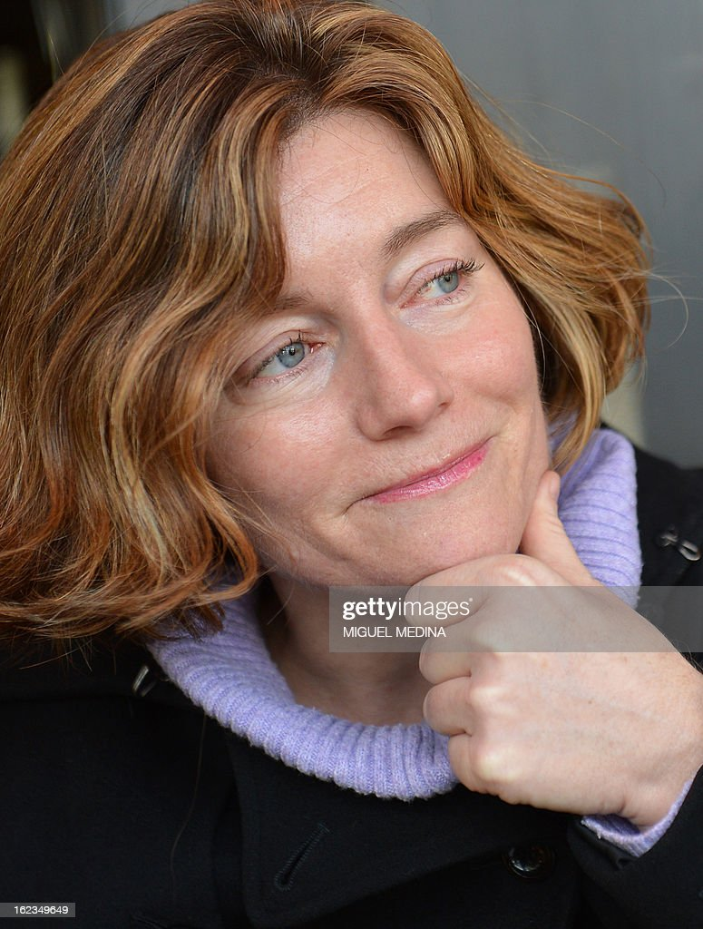 French journalist Natalie Nougayrede poses on February 22, 2013 in Paris.