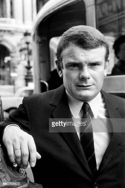 French journalist of La Croix Jean Bertolino poses after winning the 1967 Albert Londres prize on May 23 in Paris / AFP PHOTO /