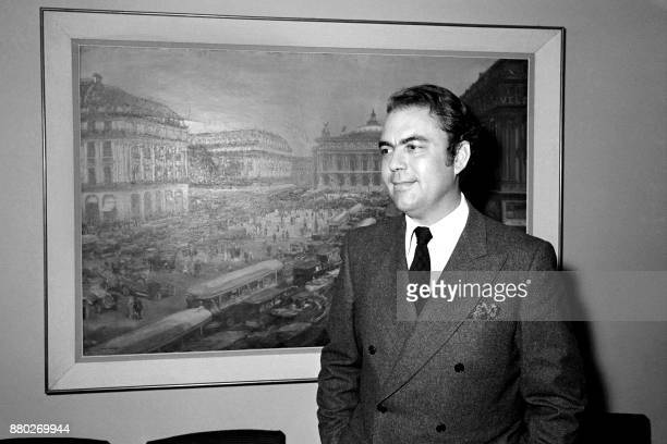 French journalist of Le Figaro Philippe Nourry poses after winning the 1970 Albert Londres prize on May 20 in Paris / AFP PHOTO /