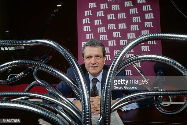 French journalist Philippe Alexandre in the studios of radio station RTL