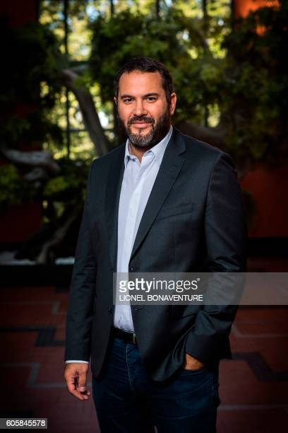 French journalist radio and TV host Bruce Toussaint poses at La Cite du Cinema in SaintDenis on September 13 2016