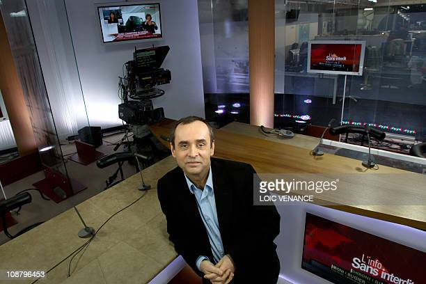 French journalist Robert Menard poses prior to host the L'info sans interdit TV show on I Tele news channel on January 31 2011 in Paris AFP PHOTO...