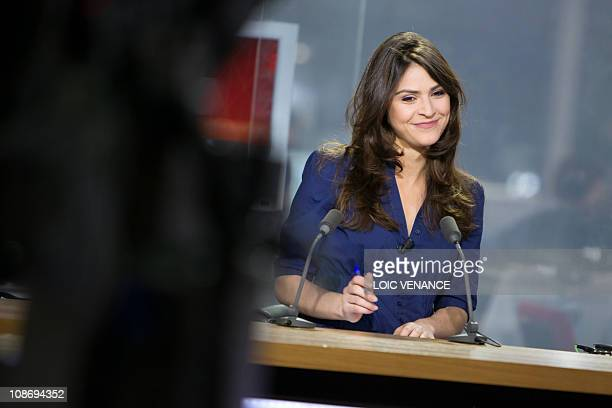 French journalist Sonia Chironi attends the L'info sans interdit TV show on I Tele news channel on January 31 2011 in Paris AFP PHOTO LOIC VENANCE