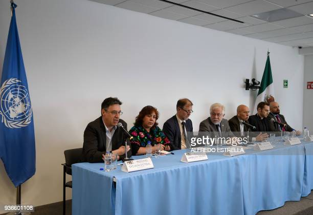 AFP French journalist Sylvain Estibal the widow of slain Mexican journalist Javier Valdez Griselda Triana Mexico's representative for the UN High...