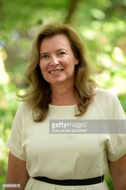 French journalist Valerie Trierweiler poses during the 22th La Foret Des Livres book fair on August 27 2017 in ChanceauxpresLoches central France La...