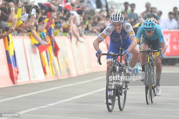 French Julien Allaphilippe from QuickStep Floors finishes fifth in the third stage of Abu Dhabi Tour a 186km Al Maryah Island Stage from Al Ain to...
