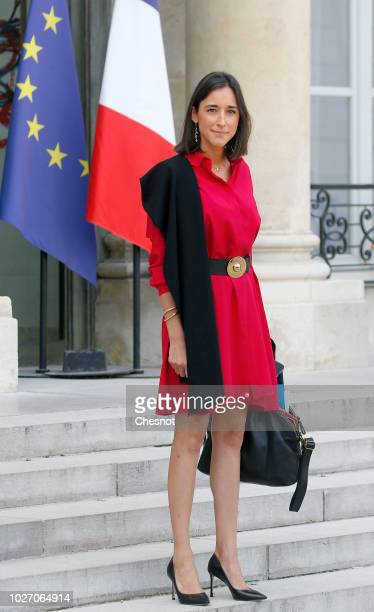 French Junior Ecology Minister Brune Poirson leaves following the weekly cabinet meeting and a government seminary at the Elysee Palace on September...