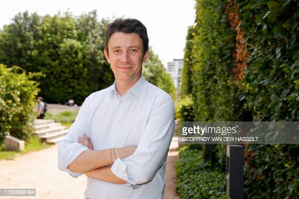 French Junior Minister and Government's spokesperson and Paris' mayoral candidate Benjamin Griveaux poses after visiting the Generali's insurance air...