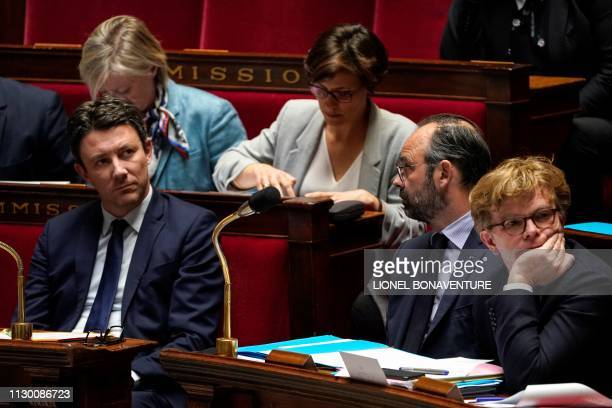 French Junior Minister and Government's spokesperson Benjamin Griveaux French Prime Minister Edouard Philippe French Junior Minister of Relations...
