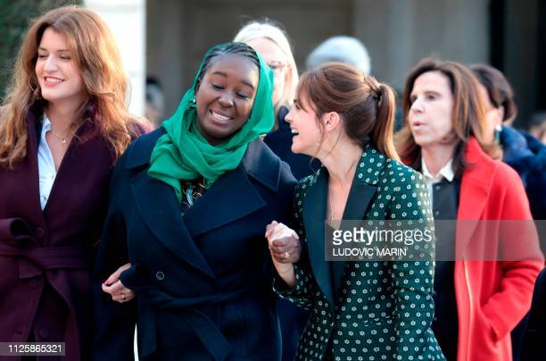 French Junior Minister attached to the Prime Minister in charge of Gender Equality Marlene Schiappa joins British actress Emma Watson Mauritanian...