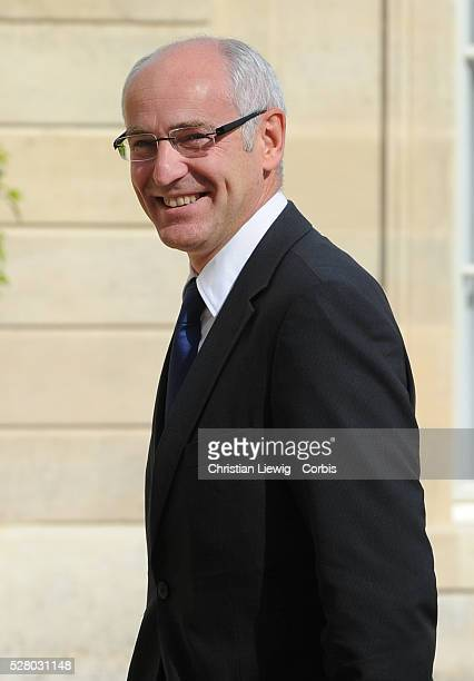 French Junior Minister for Apprenticeship and Vocational Training Thierry Repentin and French Labour, Employment at Elysee Palace to the weekly...