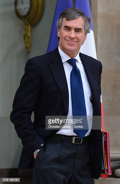 French Junior Minister for Budget, Jerome Cahuzac leaves the Elysee presidential Palace after the weekly cabinet meeting, in Paris, France, on March...