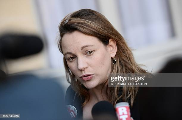 French Junior minister for Digital Economy Axelle Lemaire answers to journalists' questions following a working meeting on the fight against...
