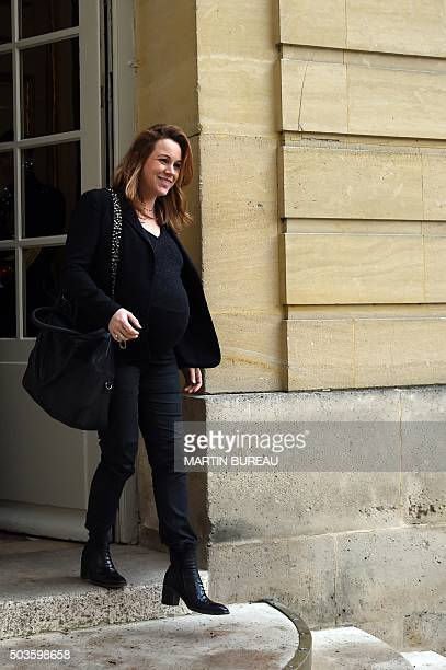 French junior minister for Digital Economy Axelle Lemaire leaves the Hotel Matignon after a meeting with France's Prime Minister on January 6 2016 in...