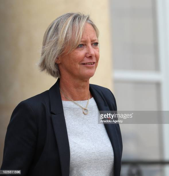 French Junior Minister for Disability Issues Sophie Cluzel leaves after a weekly cabinet meeting at the Elysee Palace in Paris, France on August 31,...