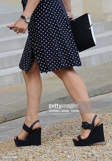French Junior Minister for Disabled People Marie-Arlette Carlotti arrives at Elysee Palace to the weekly cabinet meeting in Paris, France on June 22,...