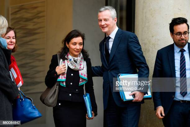 French Junior Minister for Economy Delphine GenyStephann French Economy Minister Bruno Le Maire and French Junior Minister for the Digital Sector...
