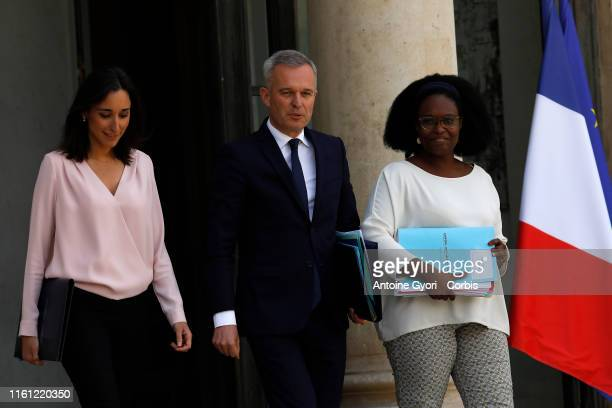 French Junior Minister for Environment Brune Poirson French Environment Minister Francois de Rugy and French Junior Minister and Government's...