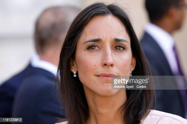 French Junior Minister for Environment Brune Poirsonarrives for a cabinet meeting at the Elysée Palace in Paris France on July 10 2019