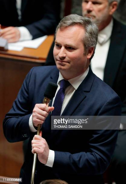 French Junior Minister for Foreign Affairs JeanBaptiste Lemoyne speaks during a session of questions to the Government at the French National...