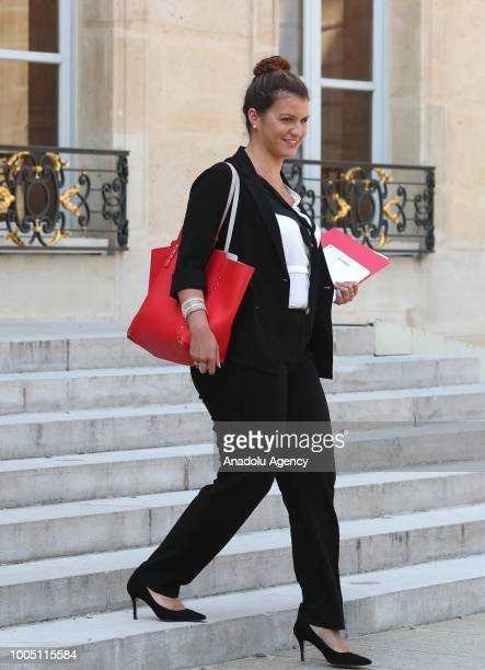 French Junior Minister for Gender Equality Marlene Schiappa leaves after a weekly cabinet meeting at the Elysee Palace in Paris, France on July 25,...