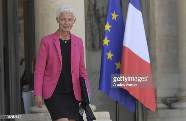 French Junior Minister for Labour Market Insertion Brigitte Klinkert attends the first Council of Ministers following the ministerial reshuffle, in...