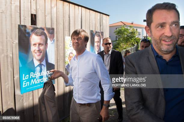 French Junior Minister for Relations with Parliament and government spokesperson Christophe Castaner the candidate of the La Republique En Marche...