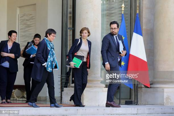 French Junior Minister for the Digital Sector Mounir Mahjoubi French Defence Minister Florence Parly French Overseas Minister Annick Girardin French...