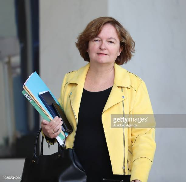 French Junior Minister for the European Affairs Nathalie Loiseau leaves after a weekly cabinet meeting at the Elysee Palace in Paris, France on...