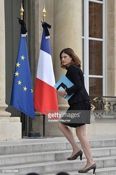 French Junior Minister for Victims Aid Juliette Meadel arrives to the restricted session of the council of security and defence at Elysee Palace on...