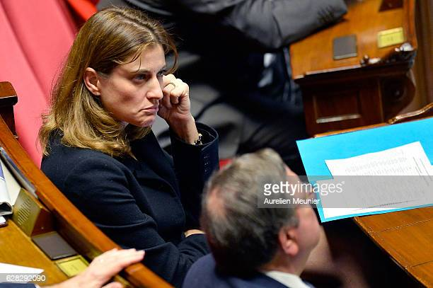 French Junior Minister for Victims Aid Juliette Meadel reacts as Ministers answer deputies during the weekly questions to the government at French...