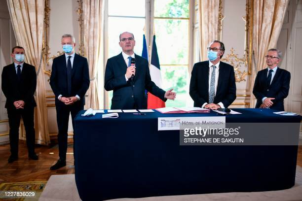 French Junior Minister of Public Action and Accounts Olivier Dussopt French Economy and Finance Minister Bruno Le Maire French Prime Minister Jean...