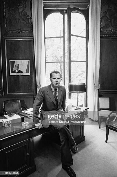 French Junior Prime Minister Antoine Rufenacht in his office at the Hotel Matignon He also served as the Mayor of Le Havre and as Jacques Chirac's...