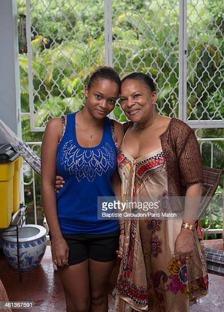 French justice minister Christiane Taubira is photographed for Paris Match on December 26 2013 in her home country Cayenne French Guiana