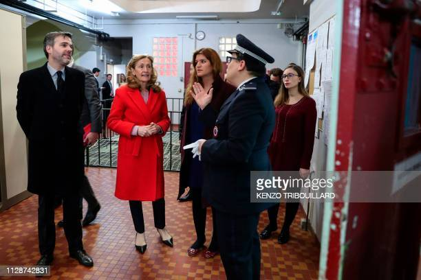 French Justice Minister Nicole Belloubet and French Junior Minister attached to the Prime Minister in charge of Gender Equality Marlene Schiappa...