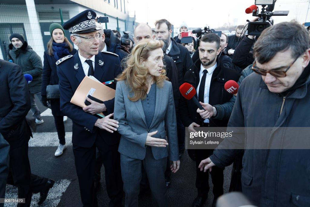French Justice Minister Nicole Belloubet Visits Vendin Le Vieil