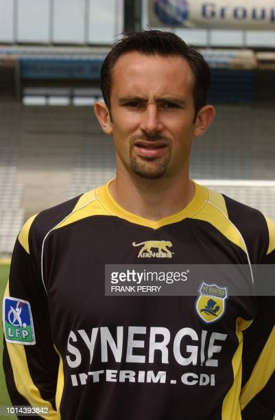 French L1 football club Nantes substitute goalkeeper Tony Heurtebis poses 01 August 2006 at La Beaujoire stadium in Nantes AFP PHOTO FRANK PERRY