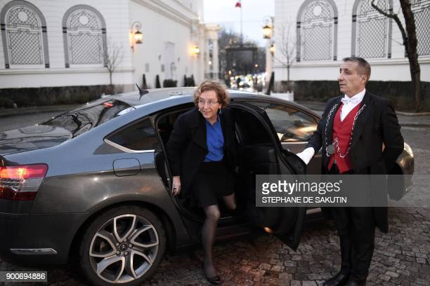 French Labour Minister Muriel Penicaud arrives to attend a government's New Year breakfast meeting at the Interior Ministry in Paris on January 3...