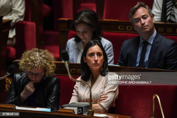 French Labour Minister Muriel Penicaud French Minister attached to the Minister of Ecological and Inclusive Transition Brune Poirson and French...