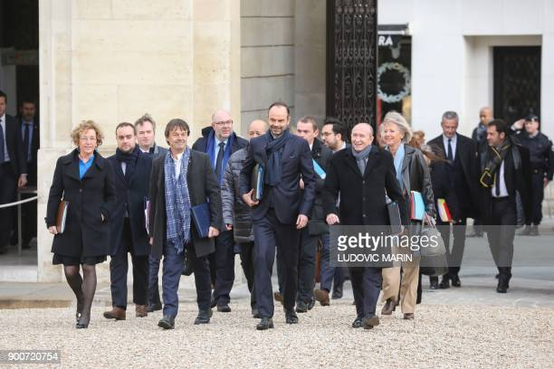 French Labour Minister Muriel Penicaud French Minister for the Ecological and Inclusive Transition Nicolas Hulot French Prime Minister Edouard...
