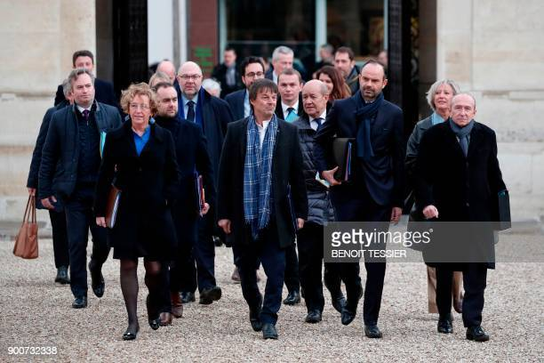 French Labour Minister Muriel Penicaud French Minister for the Ecological and Inclusive Transition Nicolas Hulot French Foreign Affairs Minister...