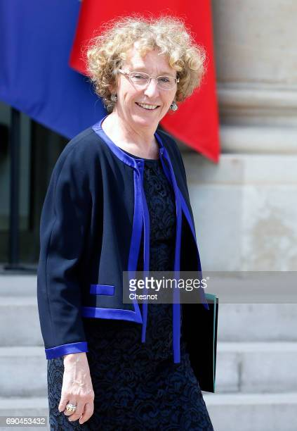 French Labour Minister Muriel Penicaud leaves the Elysee Presidential Palace after a weekly cabinet meeting on May 31 2017 in Paris France French...