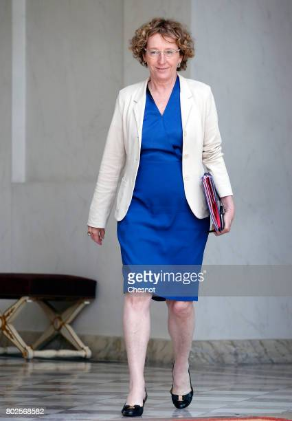 French Labour Minister Muriel Penicaud leaves the Elysee Presidential Palace after a weekly cabinet meeting on june 28 2017 in Paris France On...