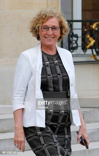 French Labour Minister Muriel Penicaud leaves the Elysee Presidential Palace after the 'Tech for Good' Summit on May 23 2018 in Paris France Tech for...