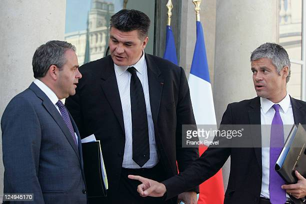 French Labour Minister Xavier Bertrand France's junior minister for French expatriates David Douillet and Minister for Higher Education and Research...