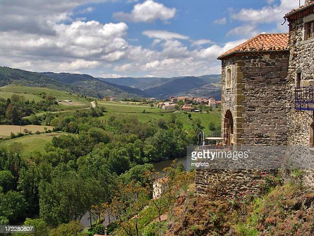 french landscape - auvergne stock pictures, royalty-free photos & images