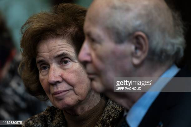 French lawyer and activist Serge Klarsfeld and his wife FrenchGerman journalist and activist Beate Klarsfeld known for their efforts to pursue Nazi...