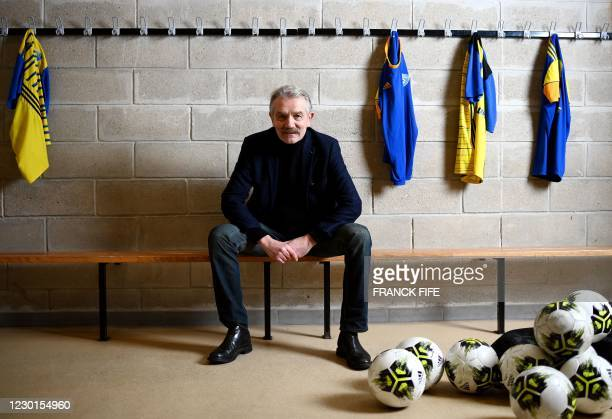 French lawyer, former president of the LFP professional football league, and candidate as French Football Federation new president Frederic Thiriez...